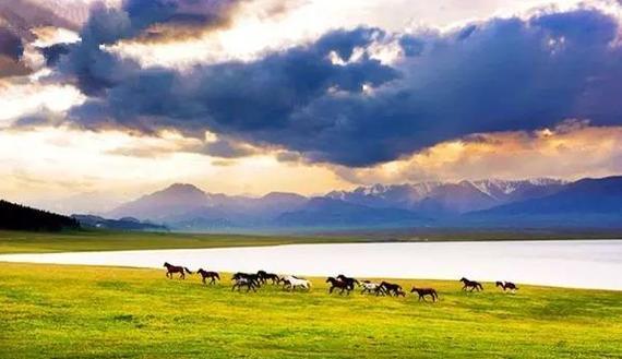 美如画的赛里木湖